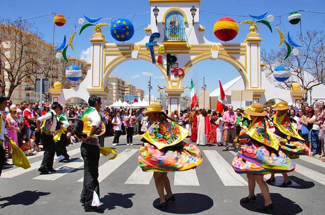 Dancers at Fuengirola's international feria