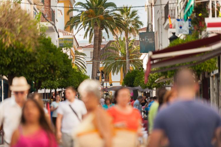 Tourists in Marbella Costa del Sol
