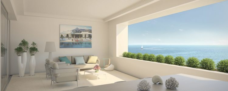 Beachfront apartments for sale in Estepona town