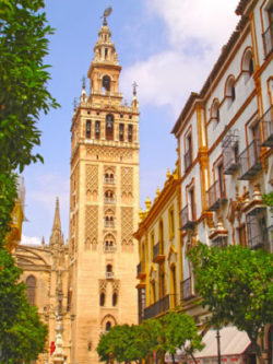 Seville cathedral in Andalucia