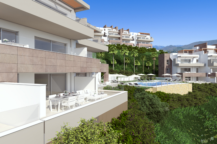 New build apartments for sale in Mijas Costa