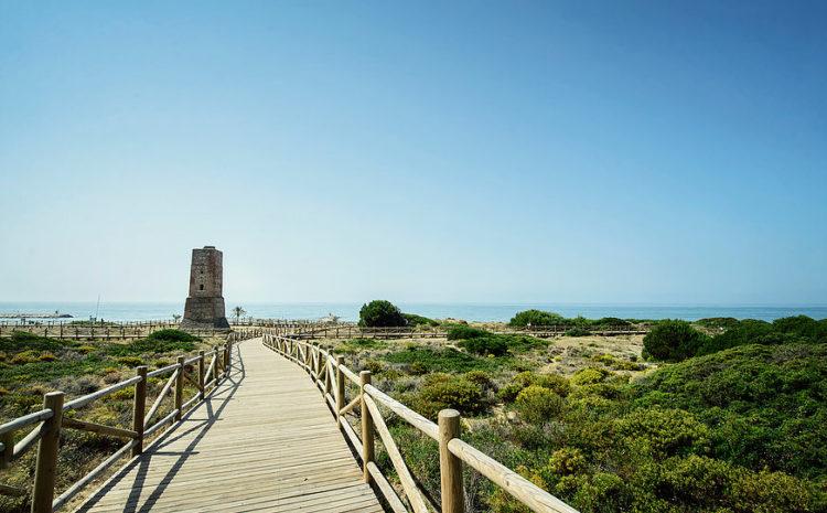 Cabopino beach east Marbella