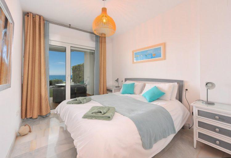 Frontline beach apartment for sale in Mijas Costa