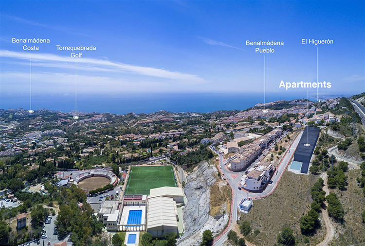New build apartments for sale in Benalmadena pueblo