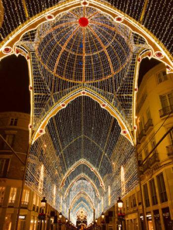 Malaga City Christmas light display