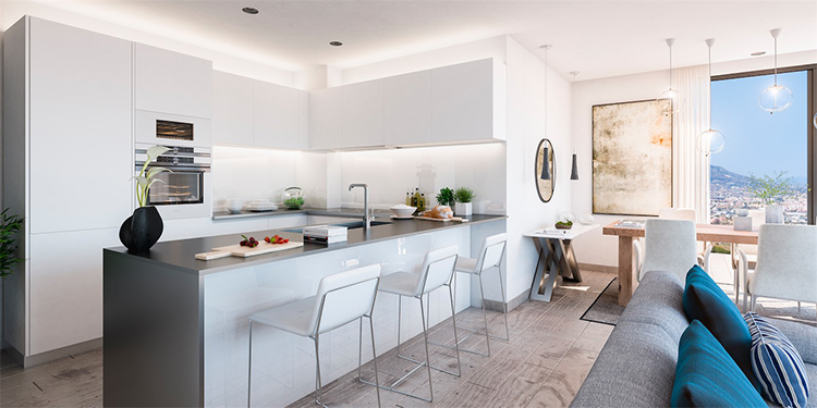 Sea view apartments for sale in Mijas Costa