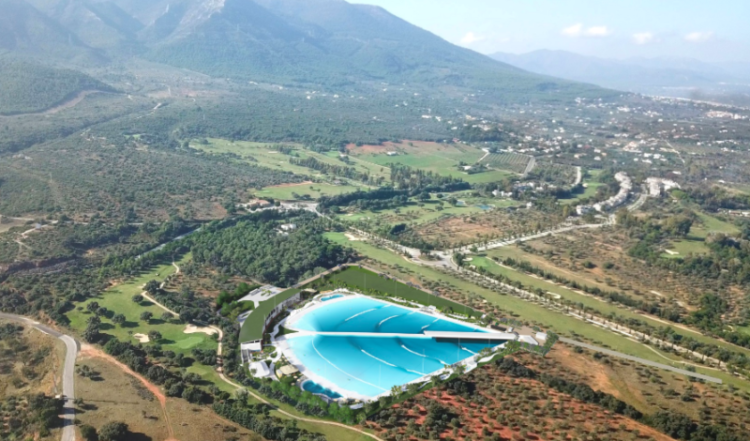 Wavegarden surf pool in Alhaurin de La Torre, Costa del Sol