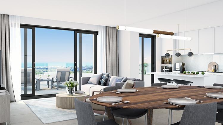 Sea view apartments for sale in Estepona