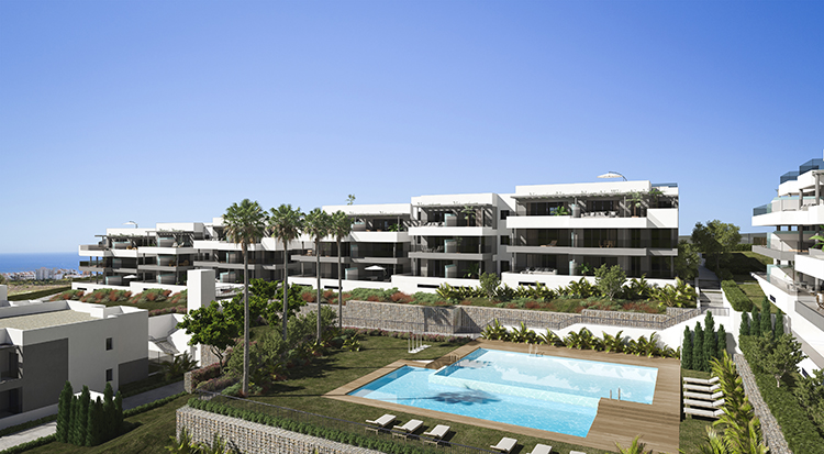 Sea view apartments for sale in Estepona