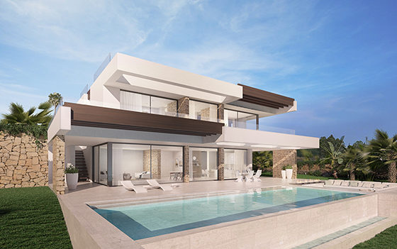 Contemporary new build villa for sale in Benalmadena