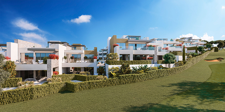 Sea and golf view homes for sale in Artola, Cabopino