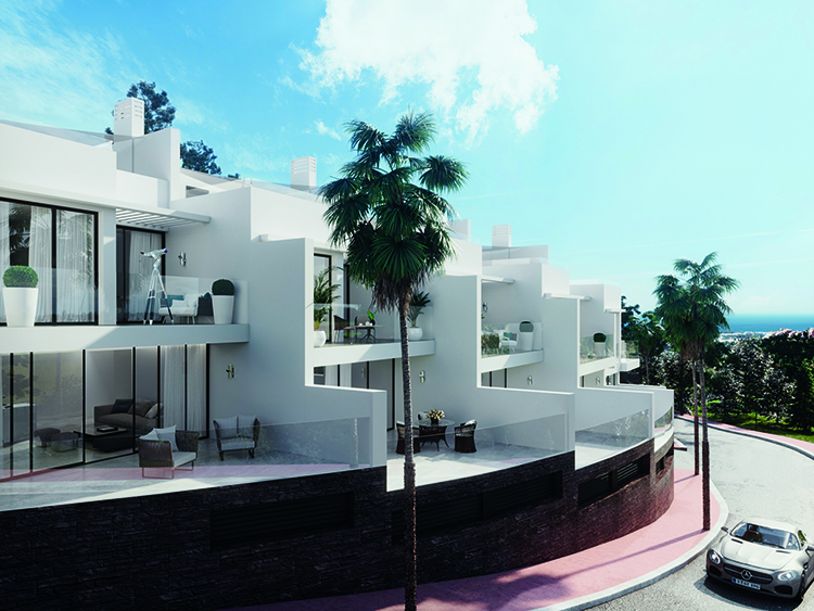 Sea view townhouse for sale in Benalmádena Pueblo